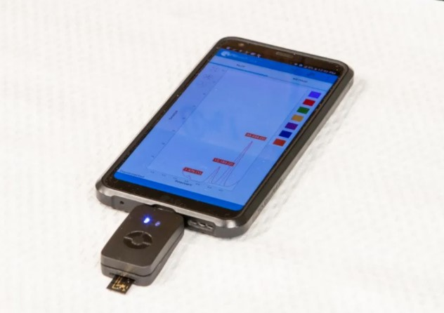 Hand-held device to read cancer biomarkers (tumor-markers)