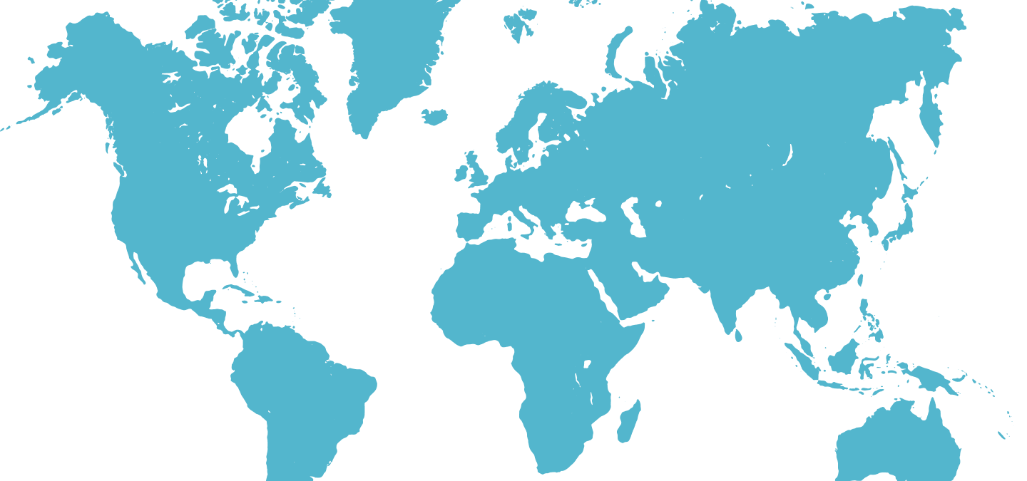 World map showing cancer patient stories through Oncolomed