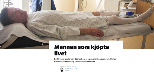 Successful cancer patient story covered in Norwegian Media