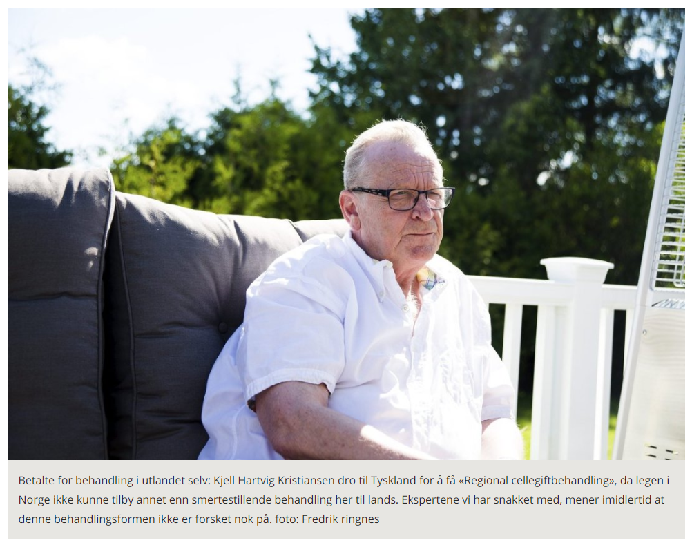Successful cancer patient case study covered by Norwegian Media for remarkable recovery