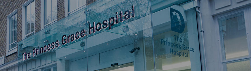 The Princess Grace Hospital front entrance