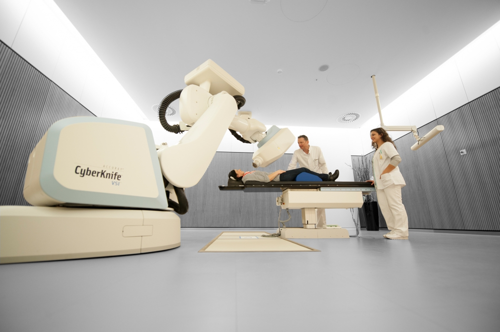 CyberKnife cancer treatment in operation - Sapphire Radiosurgery